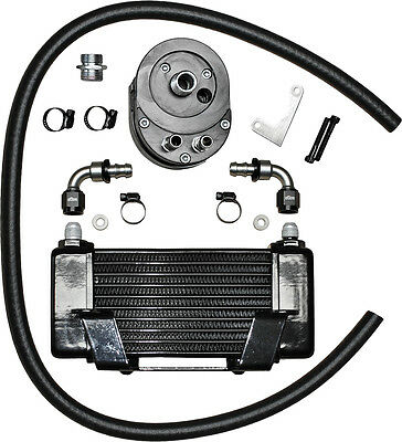 Jagg Lowmount 10-Row Oil Cooler System (Black)