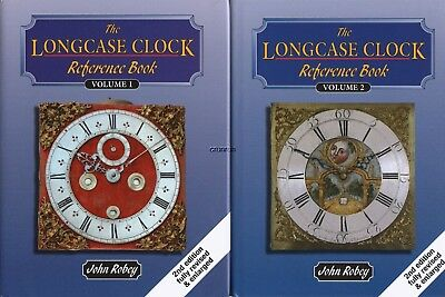 2 Vol. THE LONGCASE CLOCK REFERENCE BOOK by John Robey, 2013 2nd Edition