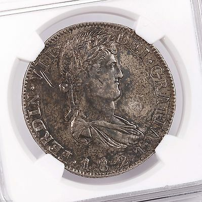 "1821 ZS RG Mexico 8R Zacatecas "" HISPAN' NGC Certified XF Details Silver 8 Reale"