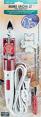 Clover 9100 Mini Iron II The Adaptor With Small Tip AC 120V NEW!