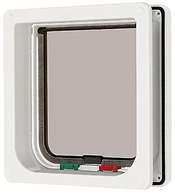 Cat Mate - 235W - 4 Way Locking Cat Flap/Door With Liner - White