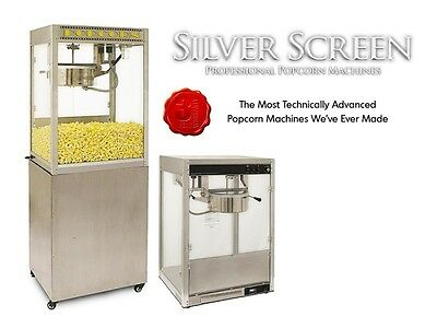 Commercial Popcorn Machine Maker & Stand Silver Screen 14 Oz Popper 11147/30147