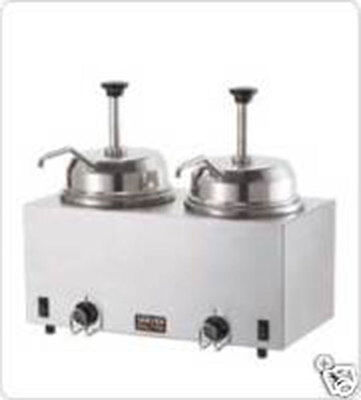 Server 81230 Twin FSP Topping Warmer w/ Pumps
