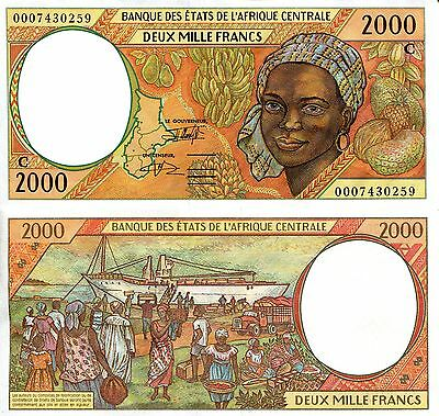 CONGO 2000 Francs Banknote World Paper Money aUNC Currency p103Ca C African St.