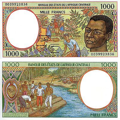 GABON 1000 Francs Banknote World Paper Money aUNC Currency p402Lg C African St.