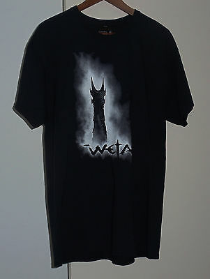 Lord of the Rings Barad-Dur Tower of Sauron Interactive T-Shirt Weta L- XL- 3XL