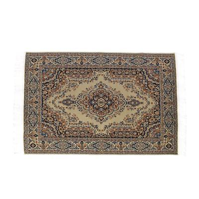 1:12 Scale Woven Turkish Rug Carpet for Doll House Mini Interior Model Decor New