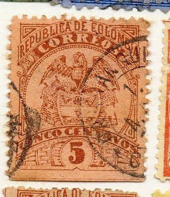 Colombia 1892 Early Issue Fine Used 5c. 073675