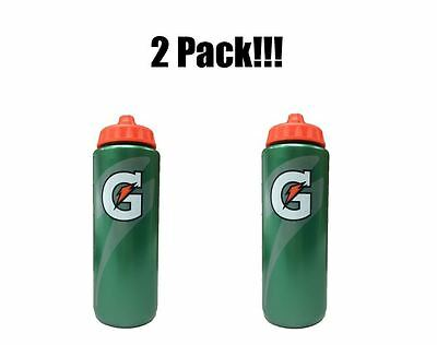 1 SET OF 2 EACH Official Gatorade 20 fl oz Squeeze Water Bottle Sports Drink
