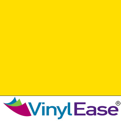 One 12 in x 20 ft Roll Glossy Yellow Adhesive Permanent Craft Sign Vinyl V0410