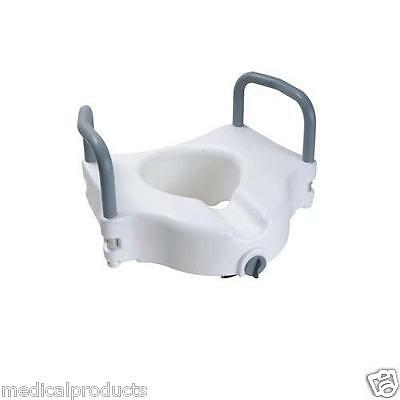 Elevated Raised Toilet Seat Riser with Removable Padded Aluminum Arms Heavy Duty
