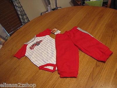 Baby boys Carter/'s 9 M months Daddy/'s Home run Hero pants body suit NEW 2pc set
