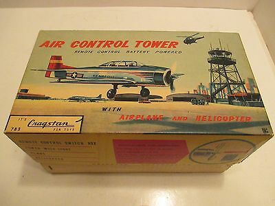 Air Conrtol Tower With Take Off Airplane And Helicopter Mint In Box Battey Op
