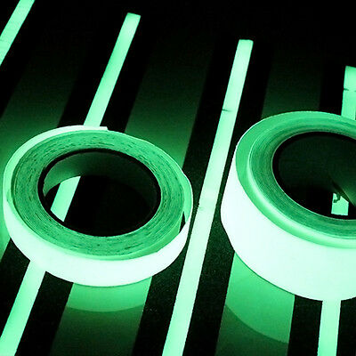 3 Sizes Photoluminescent Tape Glow In The Dark Egress Stage Safety Sticker Decor