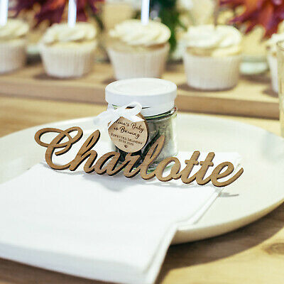Laser Cut Acrylic Name Place Cards Decorations - Wedding & Engagement Favours