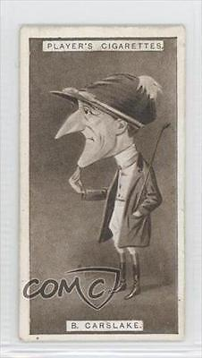 1925 Player's Racing Caricatures Tobacco Base #9 Bernard Carslake Card 1m8