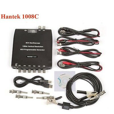 Hantek 1008C PC USB 8CH Oscilloscope Automotive Diagnostic DAQ/Program Generator
