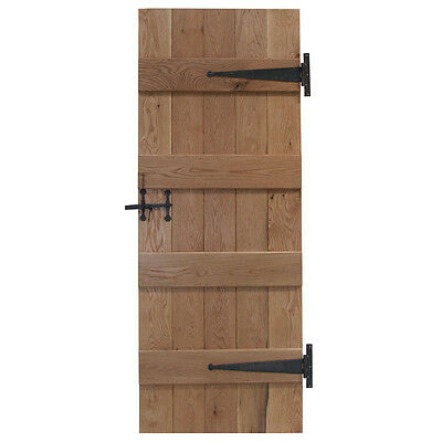 4 Ledge Solid Oak Internal Door Available in Prime or Rustic Oak
