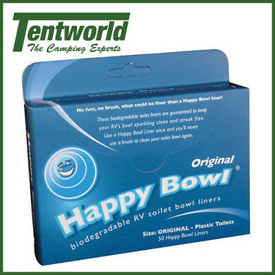 Happy Bowl Toilet Liners - 50 Pack