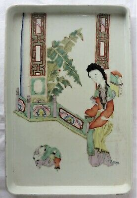Old Chinese Porcelain Tray Famille Rose