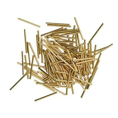50pcs Craft Curved Smooth Long Tube Spacer Beads Jewelry Making Findings