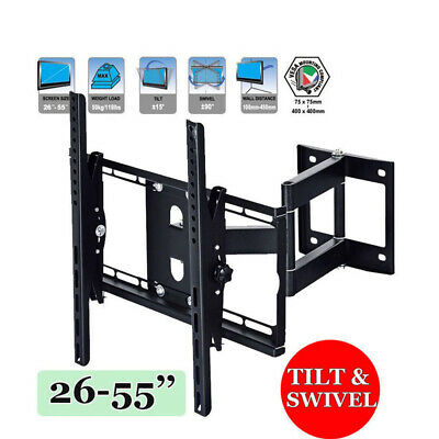TV Tilt Swivel Bracket Wall Mount LCD LED Plasma 26 30 32 37 40 42 47 48 50 55