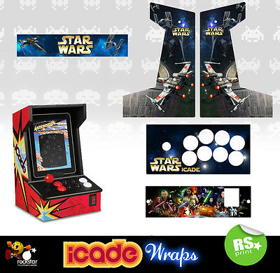 Icade Star Wars V1 Full Set Graphics Sticker / Sides Marquee & Panels