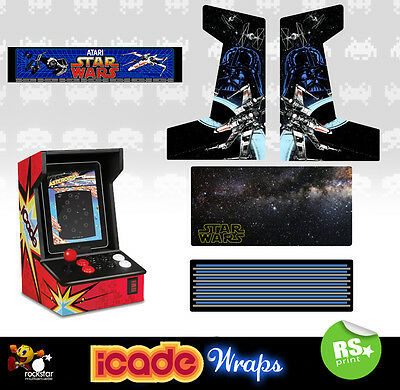 Icade Star Wars V2 Full Set Graphics Sticker / Sides Marquee & Panels