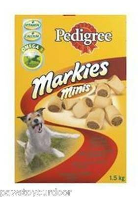 Pedigree Mini Markies 1.5kg Dog Puppy Treats Biscuits Marrowbone Training Treats