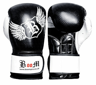 Maya Leather Boxing Gloves MMA Sparring Punch Bag Muay Thai Kick Training Mitts