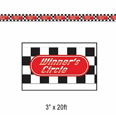 20Ft Chequered Flag Racing Car Winners Circle Party Tape Decoration 66115