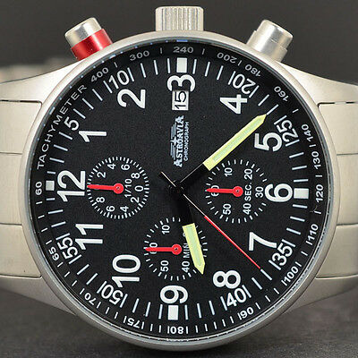 ASTROAVIA AIR CRAFT 9E NEW EDITION 6 ZEIGER CHRONOGRAPH 40 mm FLIEGERUHR