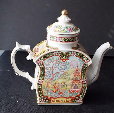 "Vintage SADLER Bone China England CHINA TEA World of Tea Collection 8""h  Teapot"