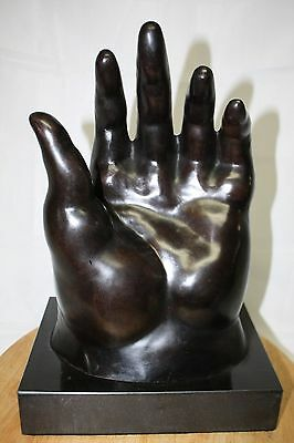 Bronze Sculpture F Botero Large Hand Numbered 3/9