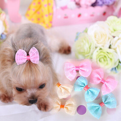 20PCS Small Pet Dog Hair Clip Grooming Bows Puppy Accessory Bowknot Hairpin Lot