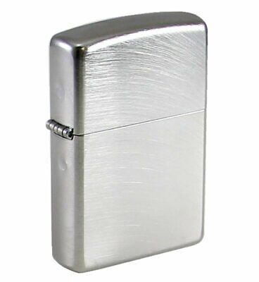 Zippo Chrome Arch Lighter, Brushed Chr, Classic Genuine Windproof #24647