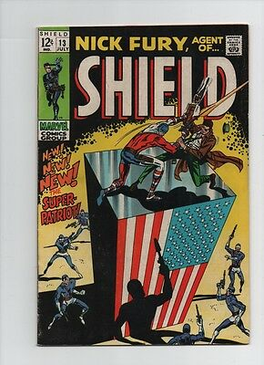 Nick Fury Agent Of SHIELD #13 - 1st Super-Patriot - 1969 (Grade 6.0) WH