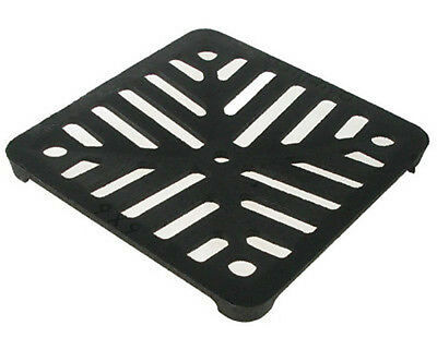 """Square 6"""" (150mm) Cast Iron Heavy Duty Gully Grid Drain Cover Grate Metal"""