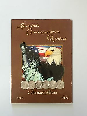 America's Commemorative Qarters Collector's Album 1999-2009 Full Set 38 Coins