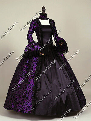 Gothic Renaissance Victorian Medieval Prom Dress Theater Period Clothing N 119