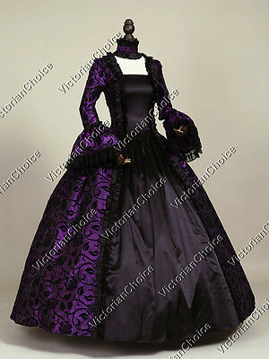 Gothic Renaissance Witch Enchantress Vampire Dress Punk Halloween Costume 119