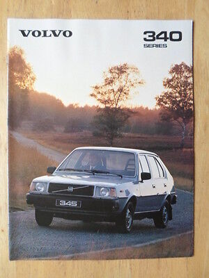 VOLVO 343 345 1980 UK Mkt Prestige Sales Brochure - DL