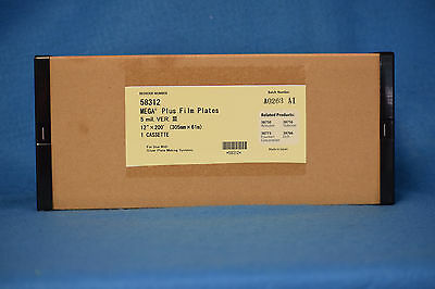 12 x 200 POLY 5 MIL PLATE MATERIAL ONE ROLL NEW