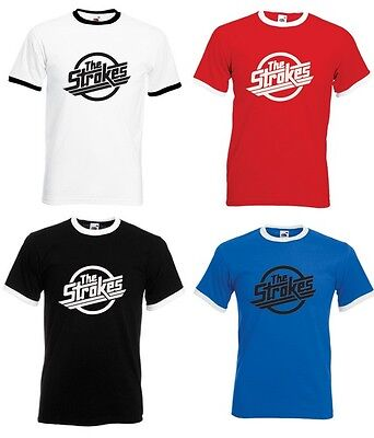 The Strokes Adult Ringer T-Shirt - All Sizes & Colours