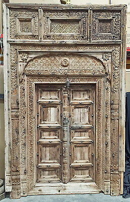 "120"" Traci Wooden Door  Carved Antique Vintage Architectural Hand Made 91"