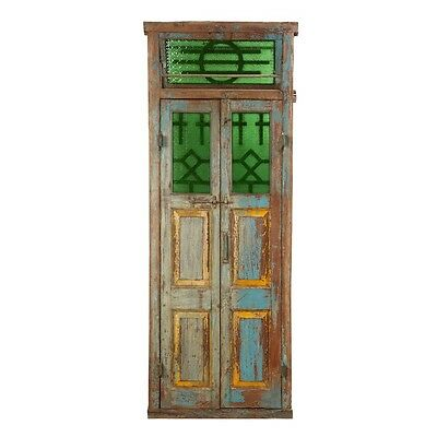 "95"" Sylvester Door and Frame  Carved Antique Architectural Vintage Solid Wood Ha"
