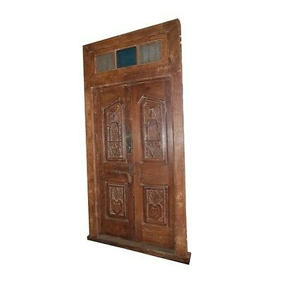 "98"" Zofia Old Door 46x6x98  Carved Antique Architectural Vintage Solid Wood Hand"