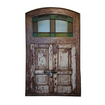 "78"" Bobby Door Curved Top  Carved Antique Architectural Vintage Solid Wood Hand"