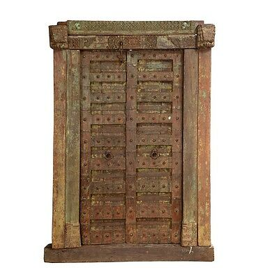 "89.5"" Royal Door and Frame  Carved Antique Architectural Vintage Solid Wood Hand"