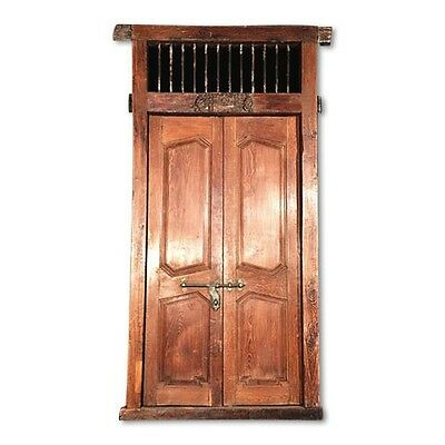 "87"" Jennifer Old Door  Carved Antique Architectural Vintage Solid Wood Hand Made"